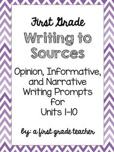 Need writing grades for Benchmark Literacy?This is the perfect purchase for your first graders to write Opinion/Argument, Informative/Explanatory, and Narrative responses each week. These writing response include a space from students to draw a picture and respond to the prompt.