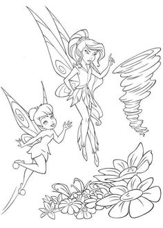 tinker bell and vidia coloring page