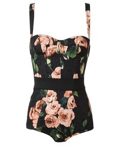 Cotton-Blend Floral Printed Body by DOLCE & GABBANA at Browns Fashion