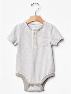 Stripe henley bodysuit | Gap