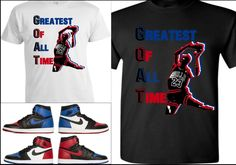 5f3d97ab54ea Details about EXCLUSIVE TEE T-SHIRT 1 TO MATCH AIR JORDAN 1 TOP 3 BANNED  BREDS ROYALS CHICAGOS