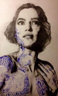 Illustrations by Gabriel Moreno… Gabriel, Mc Bess, A Level Art, Portraits, Types Of Art, Amazing Art, Cool Art, Art Drawings, Art Photography