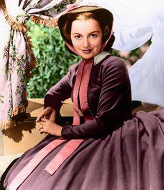 Olivia de Havilland (1916-) in Gone with the Wind by ColinFiat.deviantart.com on @DeviantArt