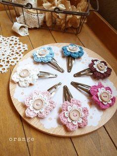 crochet flower pin