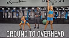 Learn the proper technique for ground to overheads with TopCats Sam and Kimberly #WorkoutWednesday
