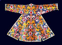 Uzbek silk velvet chapan 19th c.