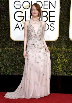 Emma Stone in Valentino - Fashion hits and misses from the 2017 Golden Globes