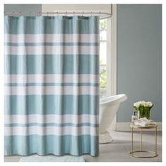Harper Printed Seersucker Shower Curtain