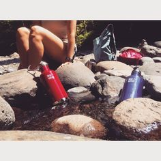 Cold water, inside and out. #BringYourOwn #GetOutside #KleanKanteen