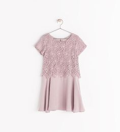 Image 1 of COMBINED GUIPURE DRESS from Zara $46