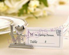 BeterWedding Decoration wholesale WJ061 Silver LOVE Place Card Holders  #placecard #weddingdecor #partydecoration #photoalbum #cardholder #weddingcards #beterwedding #weddingideas