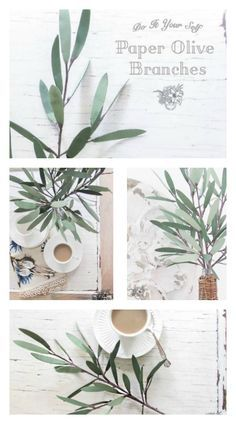 DIY Paper Olive Branches - Silhouette Creators March Challenge - Pocketful of Posies paper plants DIY Paper Olive Branches - Silhouette Creators March Challenge - Pocketful of Posies Crepe Paper Flowers, Fabric Flowers, Faux Flowers, Diy Flowers, Diy Paper, Paper Art, Olive Plant, Paper Plants, Paper Leaves