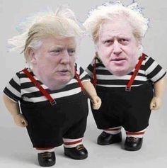 Dumb and Dumber Satire, Kingston, Donald Trumph, Monty Python, Boris Johnson, Political Cartoons, Dumb And Dumber, Funny Pictures, Politics