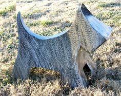 scottie dog yard art. WANT!