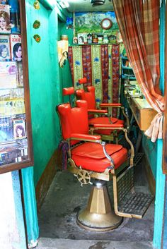 A barber shop in Varanasi, India. | by cookiesound