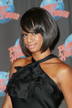 Monique Coleman B.o.B - Monique donned a sleek bob to this red carpet event.  Her a-lined bob was accompanied by face framing bangs.