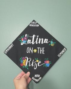 Latina on the Rise Graduation Cap Toppers, Graduation Cap Designs, Graduation Cap Decoration, Grad Cap, Graduation Caps, Graduation Ideas, Nursing Graduation, Graduation Announcements, Graduation Invitations