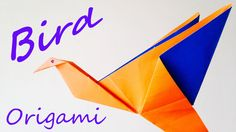 Origami bird instructions - How to make origami flapping bird ( VERY EA...