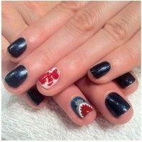 Shark Week Manicure