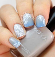 Gradient Rose Nail Art - The Nail Polish Challenge