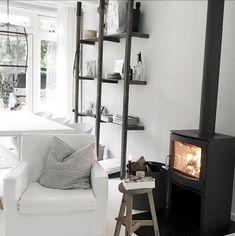 Boho Diy, Ladder Bookcase, Decoration, Ladder Decor, Beautiful Homes, Sweet Home, Shelves, Living Room, House Ideas