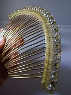 Vintage Empire hair comb with paste stones