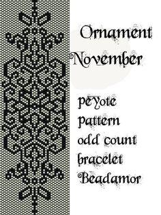 Schéma Peyote pour bracelet: ornement novembre INSTANT