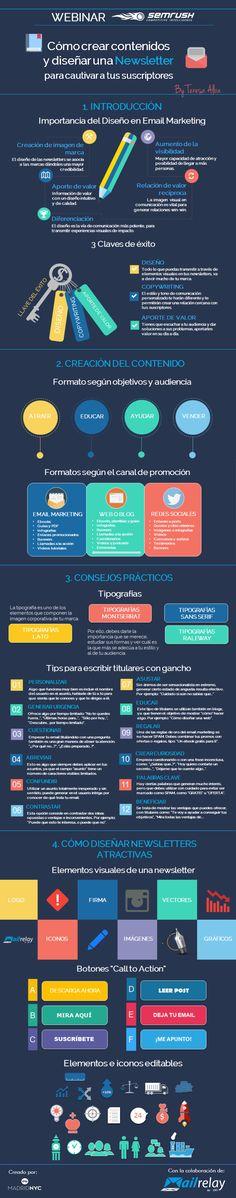 Cómo hacer una Newsletter de gran contenido #infografia #marketing