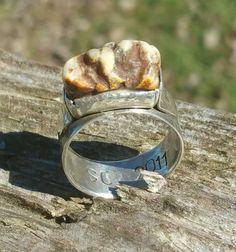 Deer Antler Burr Ring in Sterling Silver size by BluegrassNBourbon