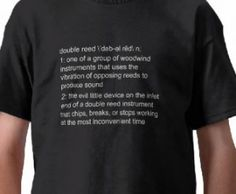 T-Shirt - definition of a double reed $12.50