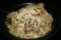 This Slow Cooker Chinese Fried Rice is an easy fried rice recipe that is perfect for satisfying any Chinese food craving. Perfectly balanced with meat, vegetables and rice, this Chinese dish is sure to be a crowd favorite.