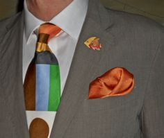 Corneliani cotton suit and a fabulous new Gene Meyer tie…