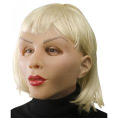 Blonde Beautiful Woman Mask