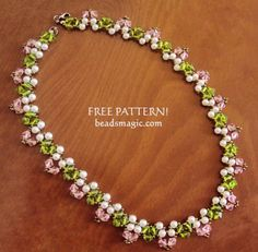 Free pattern for necklace Spring Way ~ Seed Bead Tutorials