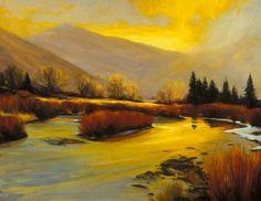 SOLD I Broken Light I 24x30 I Dix Baines I Fine Artist Original Oil Paintings I Mountains I www.dixbaines.com