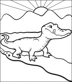 Luxury Gator Coloring Pages 18 Alligator Coloring Page