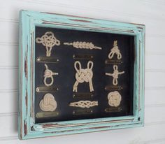 Sailor Knot Shadow Box// Nautical Knot// Framed Nautical Knots //Coastal Decor // Beach House by Theshabbyshak on Etsy https://www.etsy.com/listing/208932625/sailor-knot-shadow-box-nautical-knot