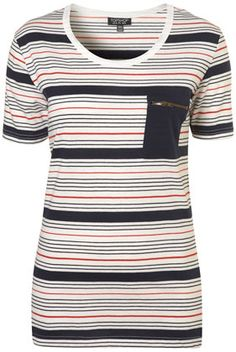 I have far too many striped shirts. But I like this one for its pocket.