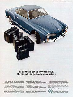Volkswagen Classic - Karmann Ghia Coupé Typ 14 = Ein Sportwagen mit viel.Platz fuer Gepaeck!