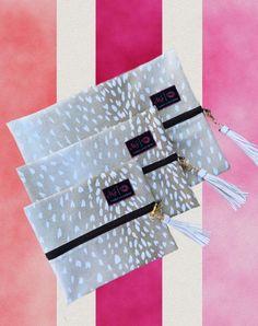 Axis Makeup junkie bags white tassel