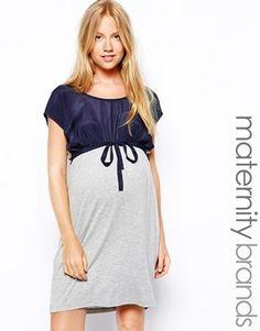 0be87de4585d Mama.licious Mamalicious Contrast Jersey Dress - Navy Vestiti Premaman