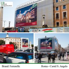 Brand: Ferrarelle - Roma - Castel S.Angelo #ferrarelle #vivieffervescente #fonte #acqua #roma #italia #adv #advertising www.upgrademedia.it