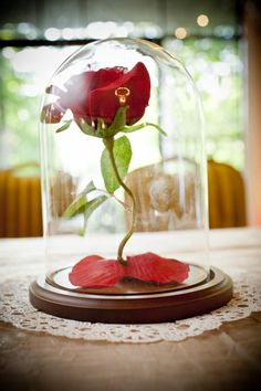 Sweetheart Table Centerpiece. Beauty and the Beast Wedding.