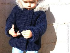 Ravelry: Fox Hooded Coat pattern by Marta Porcel Baby Knitting Patterns, Knitted Doll Patterns, Baby Sweater Knitting Pattern, Coat Patterns, Knitted Dolls, Crochet For Boys, Knit Vest, Baby Sweaters, Baby Girl Dresses