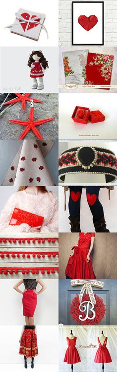 Monday in red by Suni on Etsy--Pinned with TreasuryPin.com #Etsyvintage #Estyhandmade #giftideas