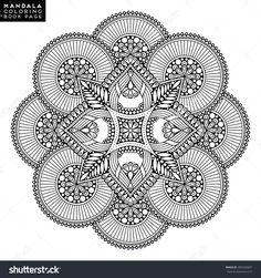 Mandala Vector Floral Flower Oriental Coloring PagesFree