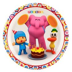 Pocoyo Party Supplies - Dinner Plates Package includes paper dinner plates to match your party theme. This is an officially licensed Pocoyo product. Party In A Box, Party Kit, Party Packs, 1st Birthday Parties, 2nd Birthday, Birthday Stuff, Birthday Cake Toppers, Childrens Party, Dinner Plates