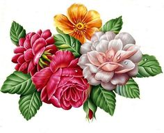 Схема вышивки «№1516640» - Вышивка крестом Pattern Art, Print Patterns, Arte Floral, Flower Art, Garland, Succulents, Embroidery Designs, Decoupage, Paper Crafts
