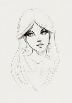 Girl sketch, drawing / Ragazza, schizzo, disegno - Art by gabbyd70 on deviantART (Artwork by Gabrielle)