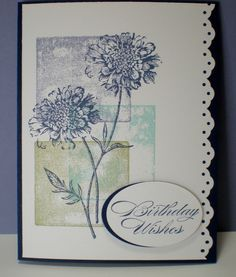 field flowers card ideas stampin up   ... . Field Flowers stamp set from Stampin' Up! used. Subtle...I like it